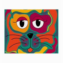 Colorful Cat 2  Small Glasses Cloth (2 Side) by Valentinaart