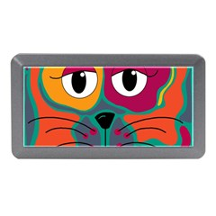 Colorful Cat 2  Memory Card Reader (mini) by Valentinaart