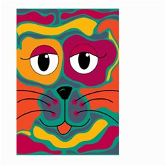 Colorful Cat 2  Large Garden Flag (two Sides) by Valentinaart