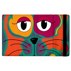 Colorful Cat 2  Apple Ipad 3/4 Flip Case by Valentinaart