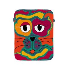 Colorful Cat 2  Apple Ipad 2/3/4 Protective Soft Cases by Valentinaart