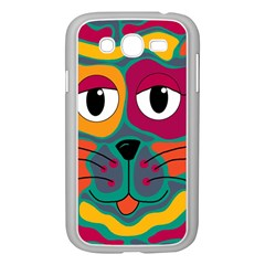 Colorful Cat 2  Samsung Galaxy Grand Duos I9082 Case (white) by Valentinaart