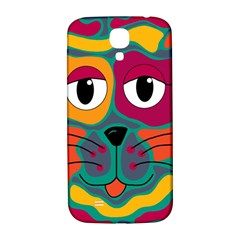 Colorful Cat 2  Samsung Galaxy S4 I9500/i9505  Hardshell Back Case by Valentinaart