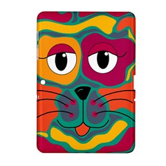 Colorful Cat 2  Samsung Galaxy Tab 2 (10 1 ) P5100 Hardshell Case  by Valentinaart