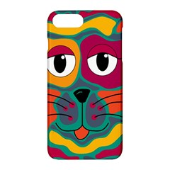 Colorful Cat 2  Apple Iphone 7 Plus Hardshell Case by Valentinaart