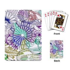Zentangle Mix 1116a Playing Card by MoreColorsinLife