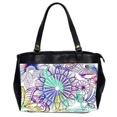 Zentangle Mix 1116a Office Handbags (2 Sides)  by MoreColorsinLife