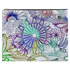 Zentangle Mix 1116a Cosmetic Bag (xxxl)  by MoreColorsinLife