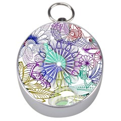 Zentangle Mix 1116a Silver Compasses by MoreColorsinLife