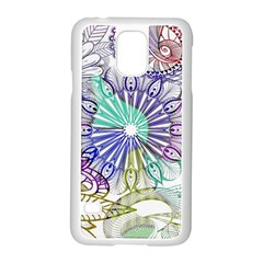 Zentangle Mix 1116a Samsung Galaxy S5 Case (white) by MoreColorsinLife