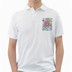 Zentangle Mix 1116b Golf Shirts by MoreColorsinLife