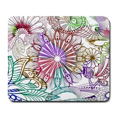 Zentangle Mix 1116b Large Mousepads by MoreColorsinLife