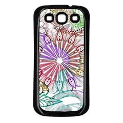 Zentangle Mix 1116b Samsung Galaxy S3 Back Case (black) by MoreColorsinLife