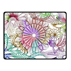 Zentangle Mix 1116b Double Sided Fleece Blanket (small)  by MoreColorsinLife