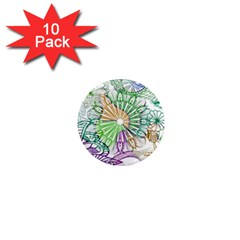Zentangle Mix 1116c 1  Mini Magnet (10 Pack)  by MoreColorsinLife