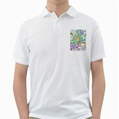 Zentangle Mix 1116c Golf Shirts by MoreColorsinLife