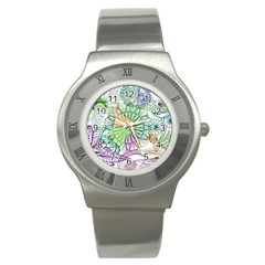 Zentangle Mix 1116c Stainless Steel Watch by MoreColorsinLife
