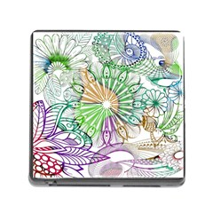 Zentangle Mix 1116c Memory Card Reader (square) by MoreColorsinLife