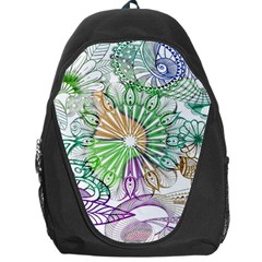 Zentangle Mix 1116c Backpack Bag by MoreColorsinLife