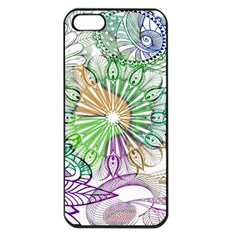 Zentangle Mix 1116c Apple Iphone 5 Seamless Case (black) by MoreColorsinLife