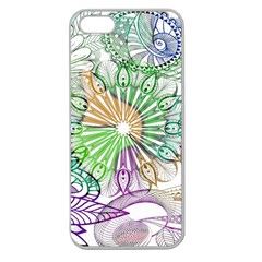 Zentangle Mix 1116c Apple Seamless Iphone 5 Case (clear) by MoreColorsinLife
