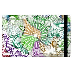 Zentangle Mix 1116c Apple Ipad 3/4 Flip Case by MoreColorsinLife