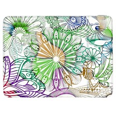 Zentangle Mix 1116c Samsung Galaxy Tab 7  P1000 Flip Case by MoreColorsinLife