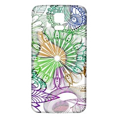 Zentangle Mix 1116c Samsung Galaxy S5 Back Case (white) by MoreColorsinLife