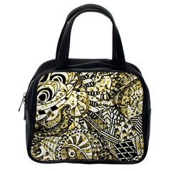 Zentangle Mix 1216a Classic Handbags (one Side) by MoreColorsinLife