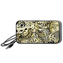 Zentangle Mix 1216a Portable Speaker (black)  by MoreColorsinLife
