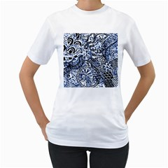 Zentangle Mix 1216b Women s T Shirt (white) (two Sided) by MoreColorsinLife