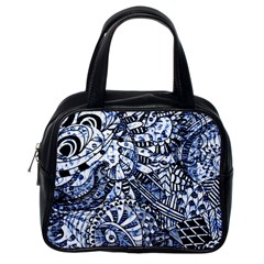 Zentangle Mix 1216b Classic Handbags (one Side) by MoreColorsinLife