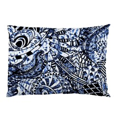 Zentangle Mix 1216b Pillow Case by MoreColorsinLife