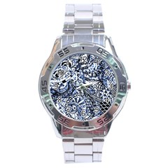 Zentangle Mix 1216b Stainless Steel Analogue Watch by MoreColorsinLife