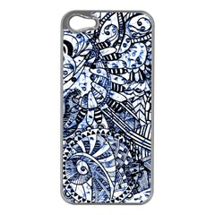 Zentangle Mix 1216b Apple Iphone 5 Case (silver) by MoreColorsinLife