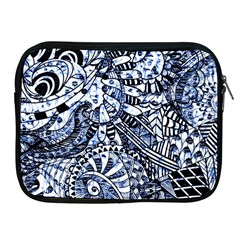 Zentangle Mix 1216b Apple Ipad 2/3/4 Zipper Cases by MoreColorsinLife