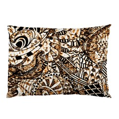 Zentangle Mix 1216c Pillow Case by MoreColorsinLife