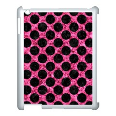 Circles2 Black Marble & Pink Marble (r) Apple Ipad 3/4 Case (white) by trendistuff
