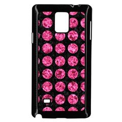 Circles1 Black Marble & Pink Marble Samsung Galaxy Note 4 Case (black) by trendistuff