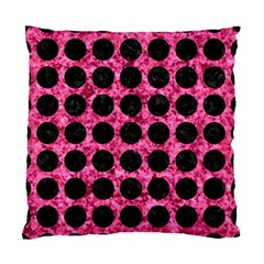 Circles1 Black Marble & Pink Marble (r) Standard Cushion Case (one Side) by trendistuff
