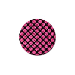 Circles2 Black Marble & Pink Marble Golf Ball Marker by trendistuff