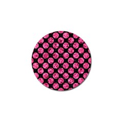 Circles2 Black Marble & Pink Marble Golf Ball Marker (4 Pack) by trendistuff