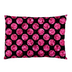 Circles2 Black Marble & Pink Marble Pillow Case (two Sides) by trendistuff