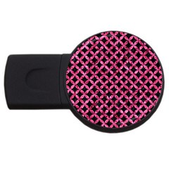 Circles3 Black Marble & Pink Marble Usb Flash Drive Round (2 Gb) by trendistuff