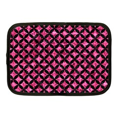 Circles3 Black Marble & Pink Marble (r) Netbook Case (medium) by trendistuff