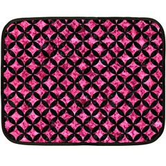 Circles3 Black Marble & Pink Marble (r) Double Sided Fleece Blanket (mini) by trendistuff