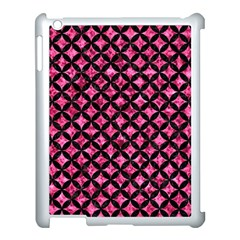 Circles3 Black Marble & Pink Marble (r) Apple Ipad 3/4 Case (white) by trendistuff