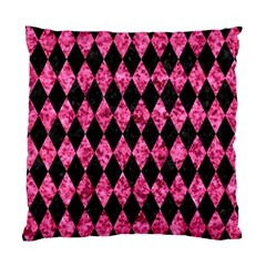 Diamond1 Black Marble & Pink Marble Standard Cushion Case (two Sides) by trendistuff