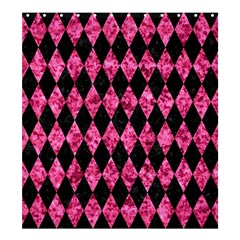 Diamond1 Black Marble & Pink Marble Shower Curtain 66  X 72  (large) by trendistuff