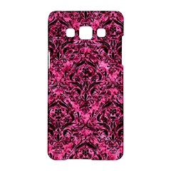 Damask1 Black Marble & Pink Marble (r) Samsung Galaxy A5 Hardshell Case  by trendistuff